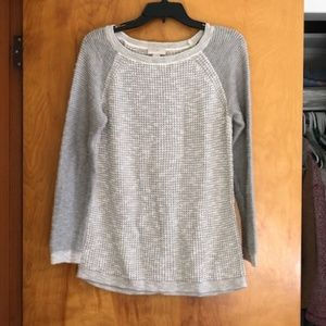 Grey and White Sweater by Loft